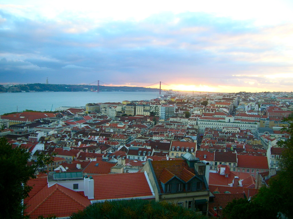 Lisbon view from Sao Jorge castle