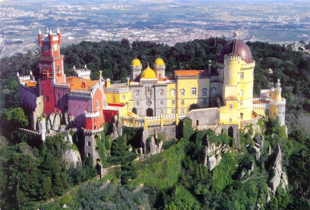 Sintra castle in Portugal
