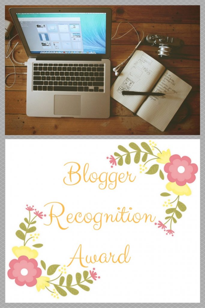 Blogger Recognition Award Pinterest